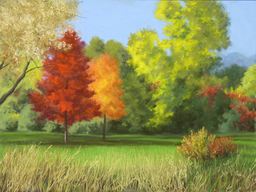 Fall Fire - Nancy Wylie Pastel Artist