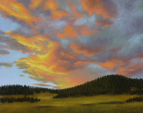 wylie-evening-sunset-pastel-8x10