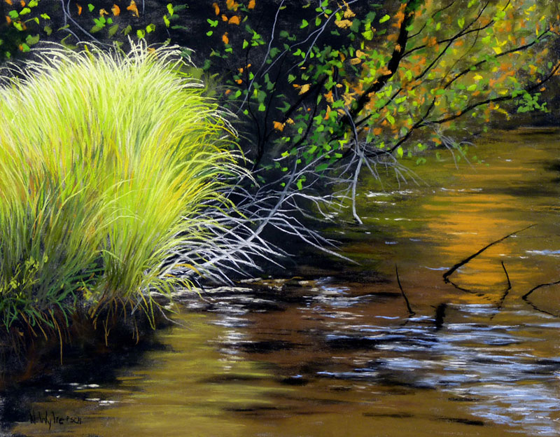 Nancy Wylie artist Creekside pastel