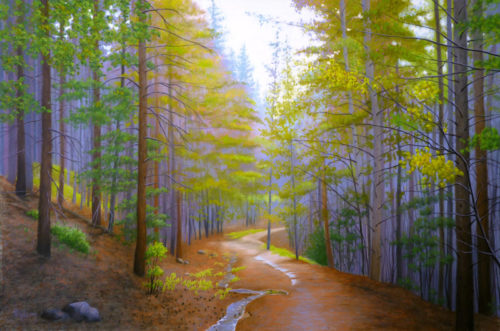Nancy Wylie artist He Walks with Me pastel
