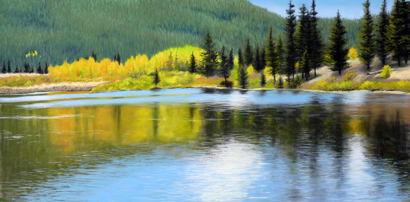 Nancy Wylie artist Lilly Lake pastel